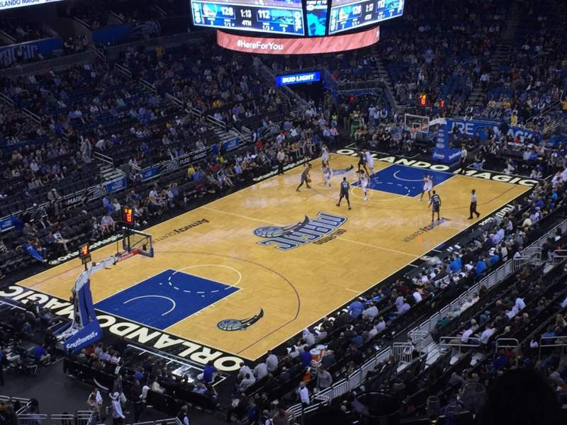 Seating view for Amway Center Section 214 Row 1 Seat 1