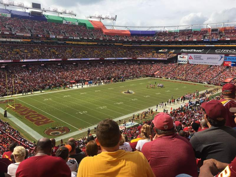 Seating view for FedEx Field Section 327 Row 17 Seat 20
