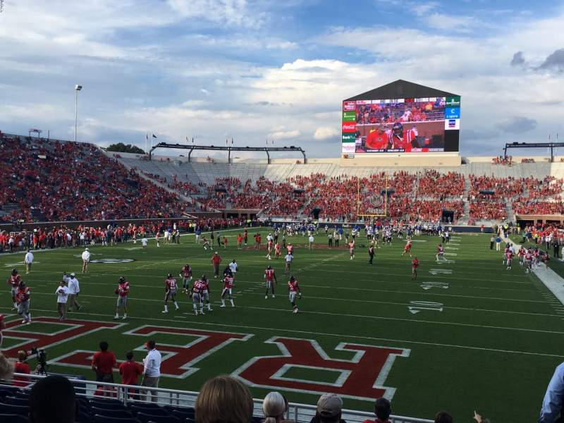 Seating view for Vaught-Hemingway Stadium Section FC-2 Row 11 Seat I