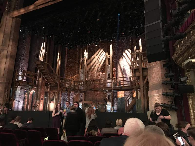 Seating view for PrivateBank Theatre Section Orchestra R Row J Seat 10