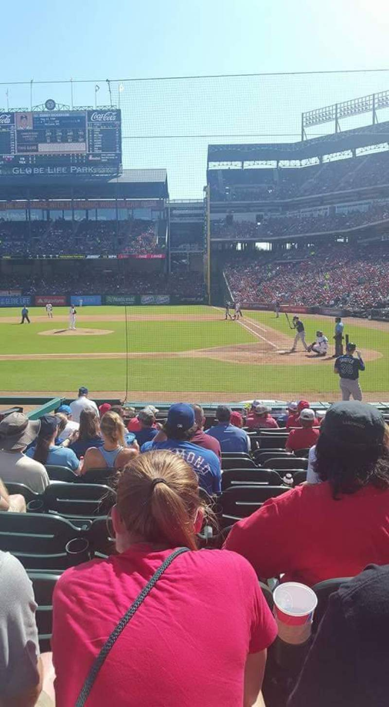 Seating view for Globe Life Park in Arlington Section 21 Row 9 Seat 5
