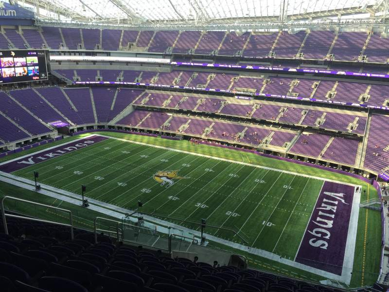 Seating view for U.S. Bank Stadium Section 308 Row 12 Seat 17