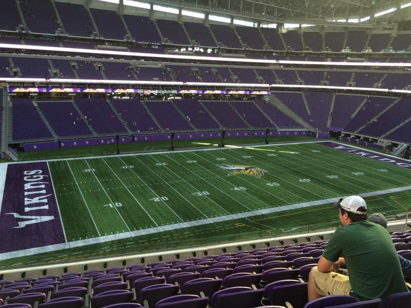 Seating view for U.S. Bank Stadium Section 238 Row 10 Seat 19