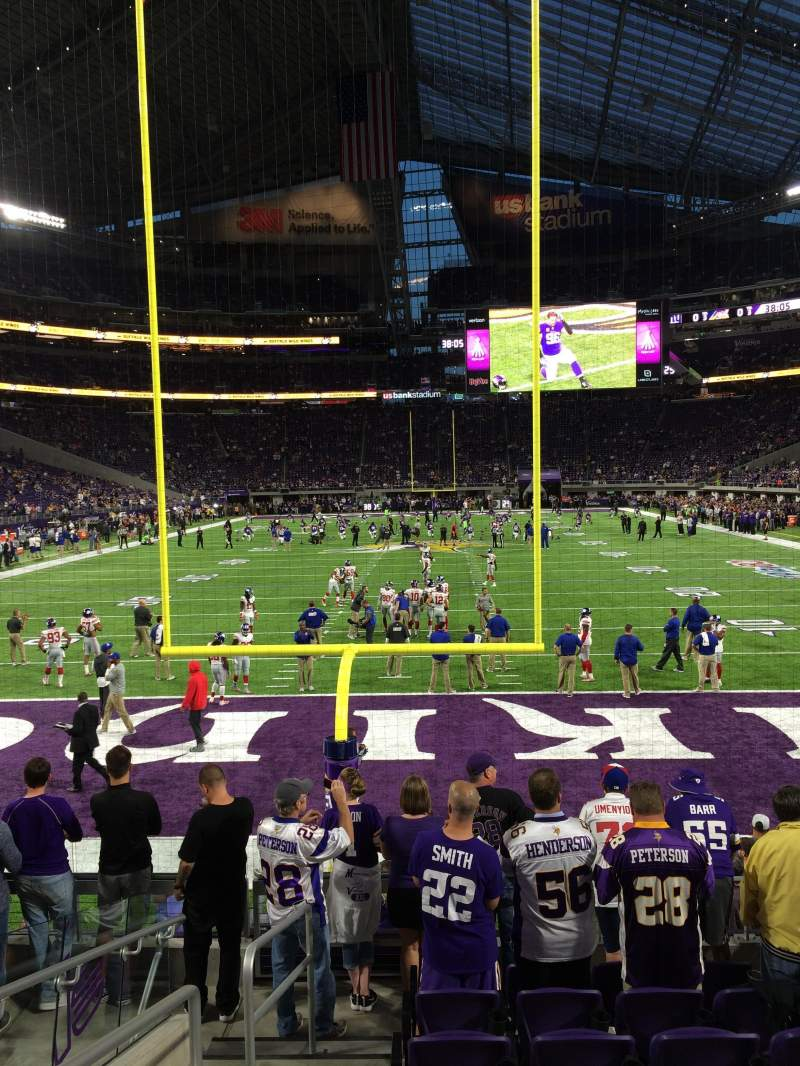 Seating view for U.S. Bank Stadium Section 141 Row 8 Seat 19