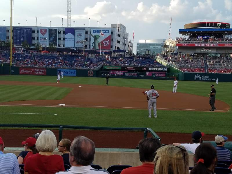 Seating view for Nationals Park Section 130 Row L Seat 13