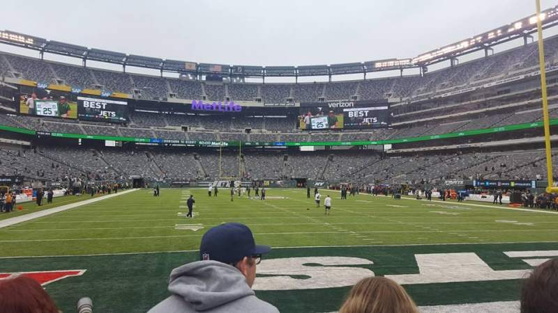 Seating view for MetLife Stadium Section 103 Row 2 Seat 10-11