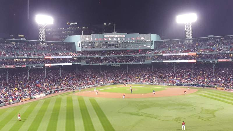 Seating view for Fenway Park Section Bleacher 37 Row 35