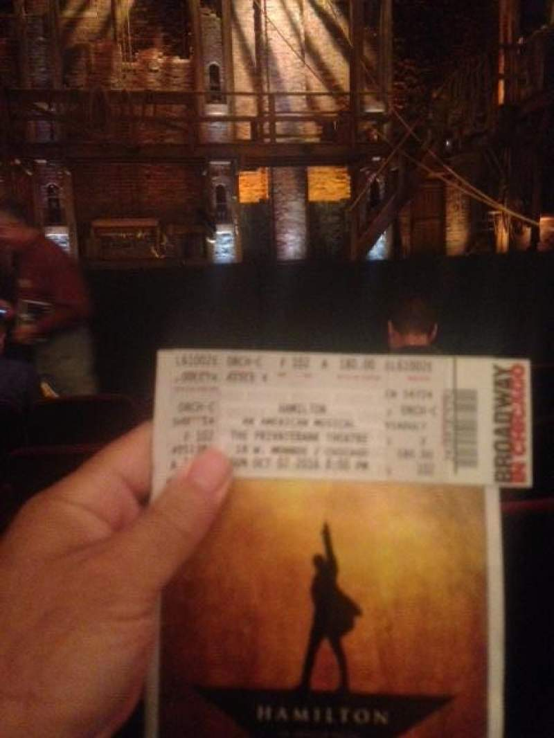 Seating view for CIBC Theatre Section Orchestra C Row F Seat 102