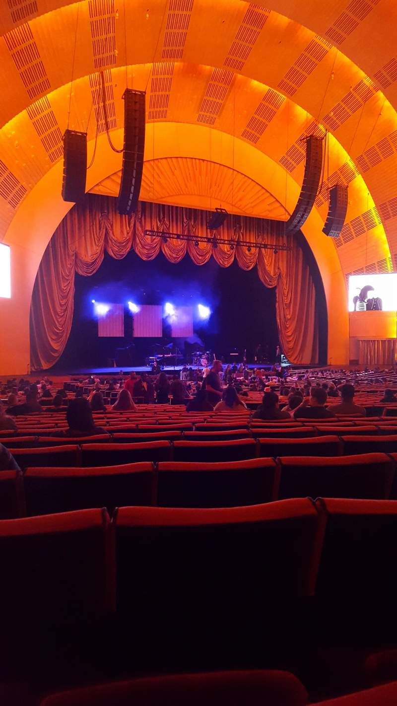 Seating view for Radio City Music Hall Section Orchestra 6 Row N Seat 612