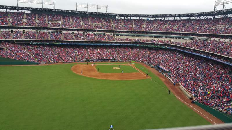 Seating view for Globe Life Park in Arlington Section 302 Row 1 Seat 9
