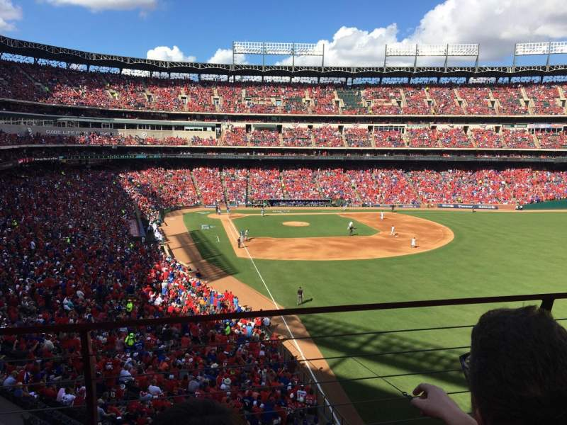 Seating view for Globe Life Park in Arlington Section 244 Row 2 Seat 6