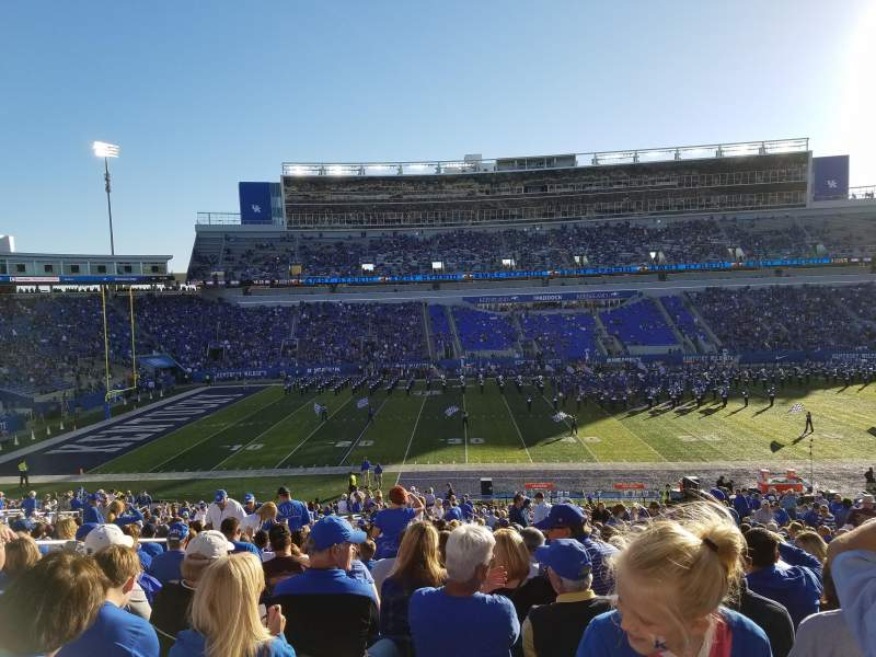 Seating view for Commonwealth Stadium Section 5 Row 42 Seat 9