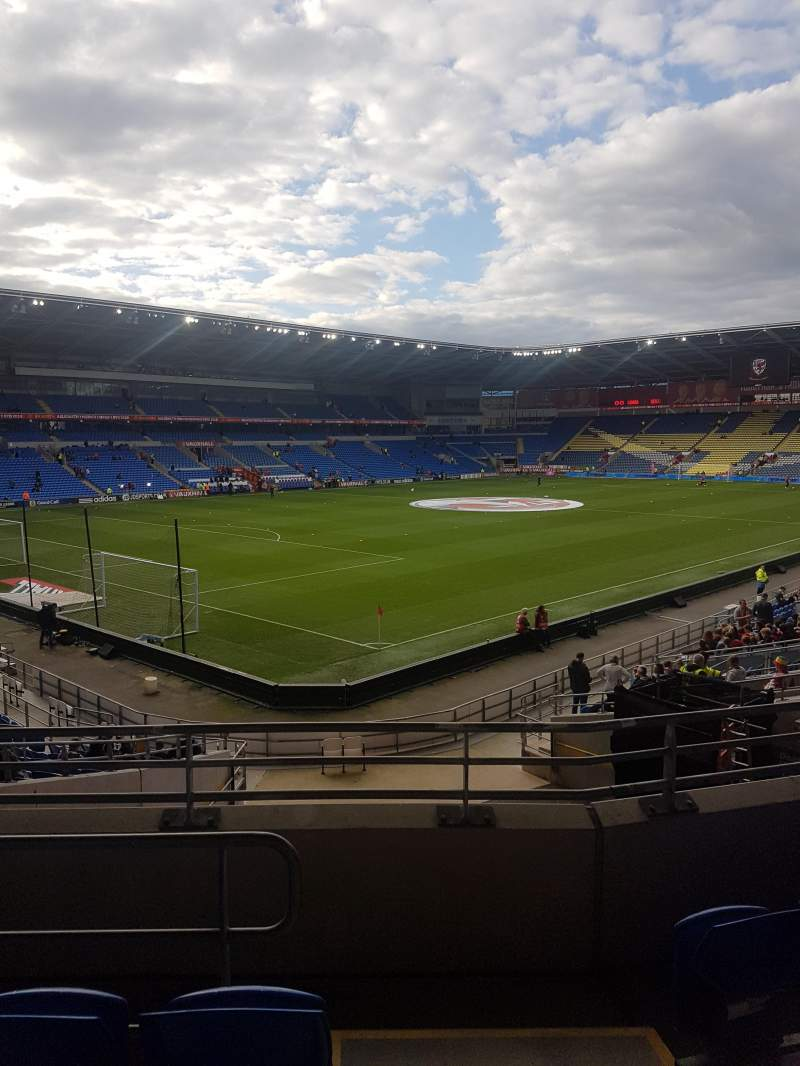 Seating view for Cardiff city stadium Section 121 Row Y Seat 57