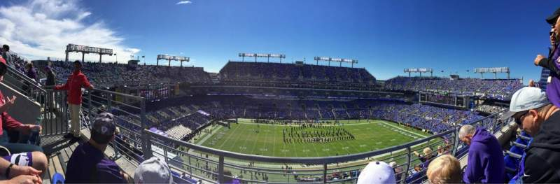 Seating view for M&T Bank Stadium Section 501 Row 5 Seat 12