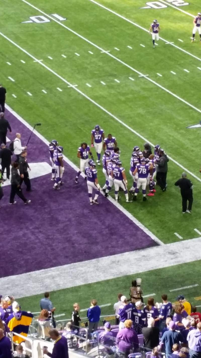 Seating view for U.S. Bank Stadium Section 217 Row 1 Seat 7