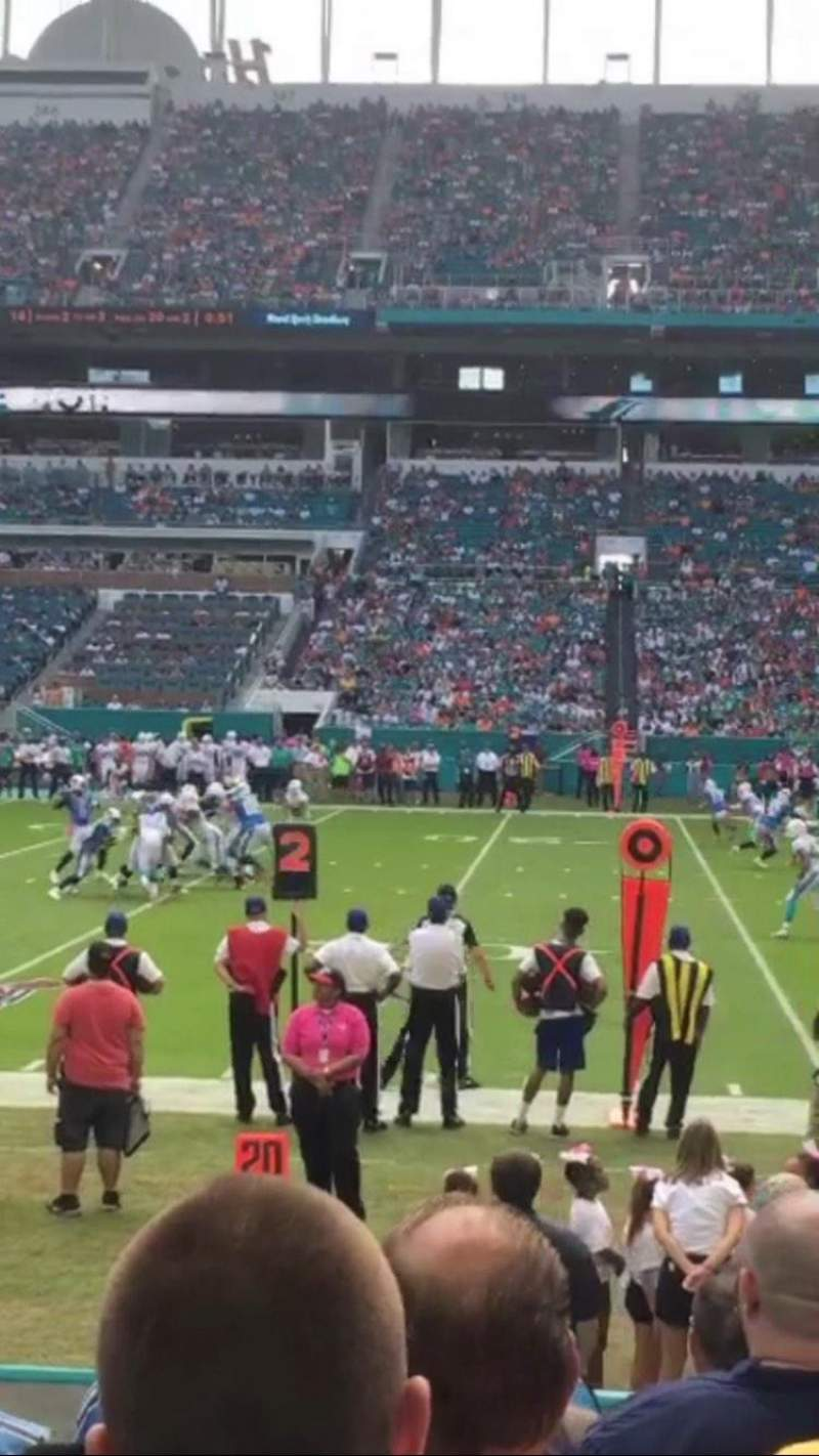 Seating view for Hard Rock Stadium Section 116 Row 8 Seat 7