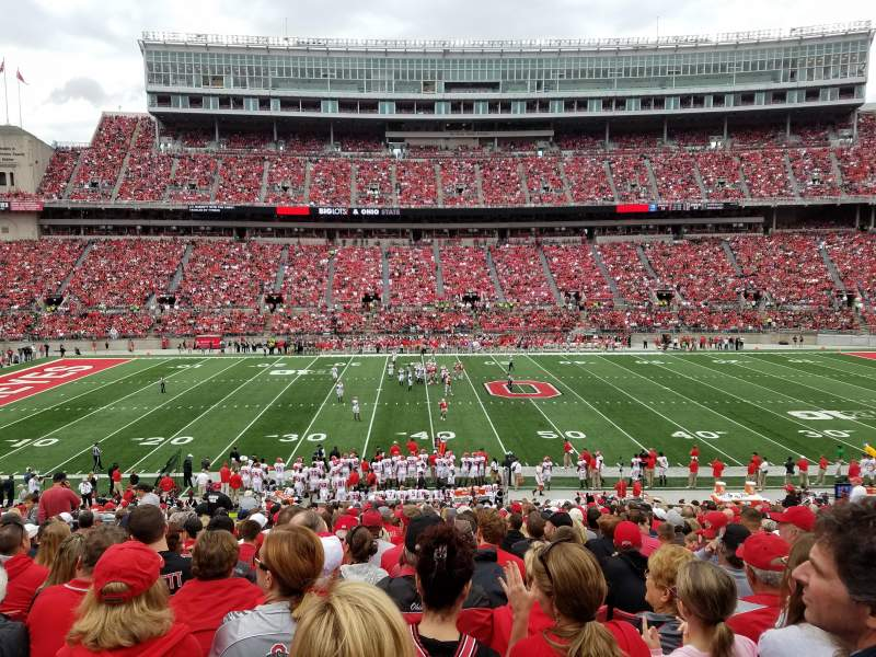 Seating view for Ohio Stadium Section 22A Row 23 Seat 23