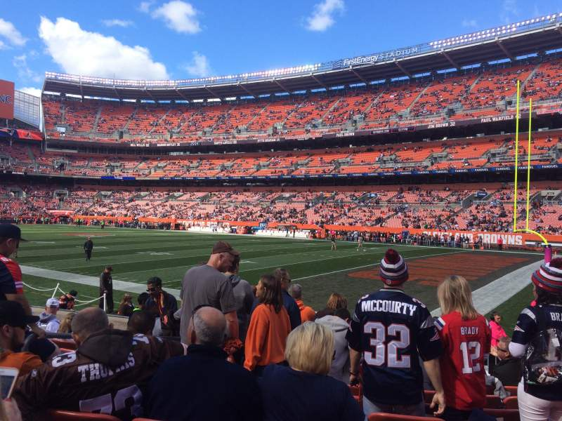 Seating view for FirstEnergy Stadium Section 115 Row 8 Seat 5