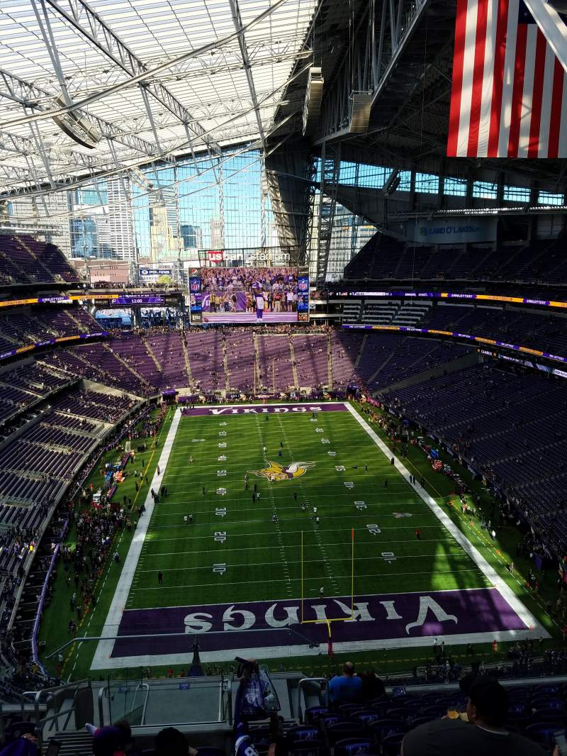 Seating view for U.S. Bank Stadium Section 327 Row 12 Seat 25