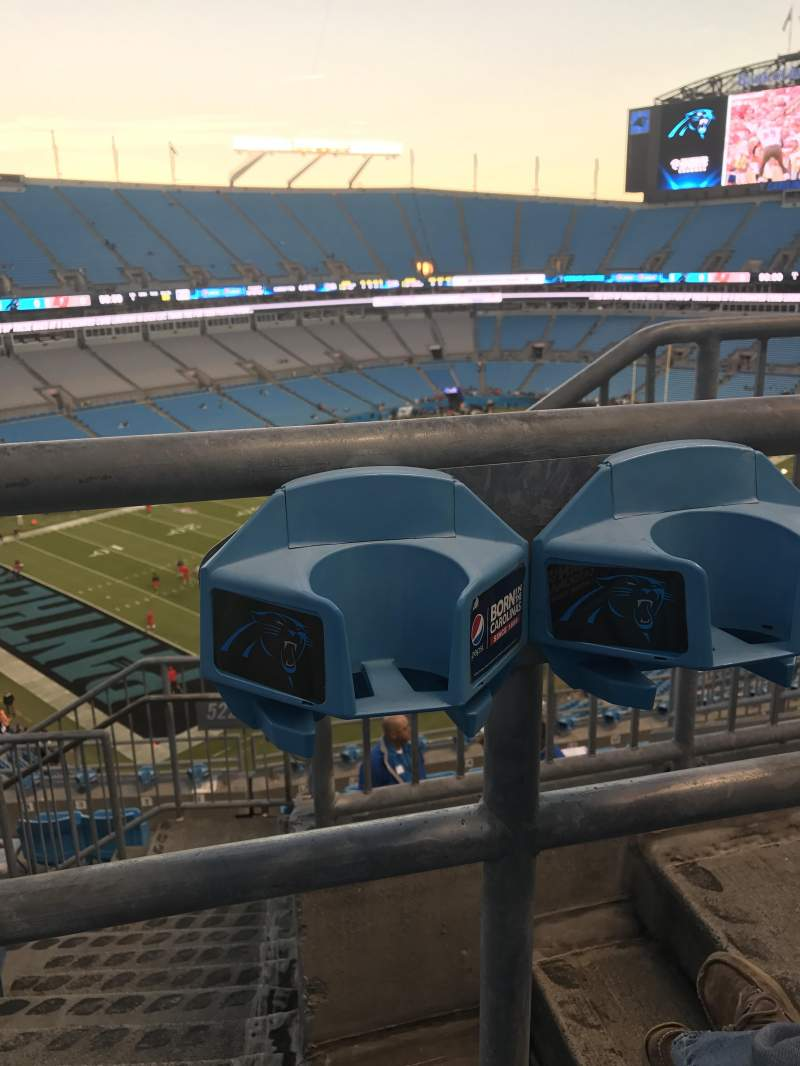 Seating view for Bank of America Stadium Section 522 Row 5 Seat 1