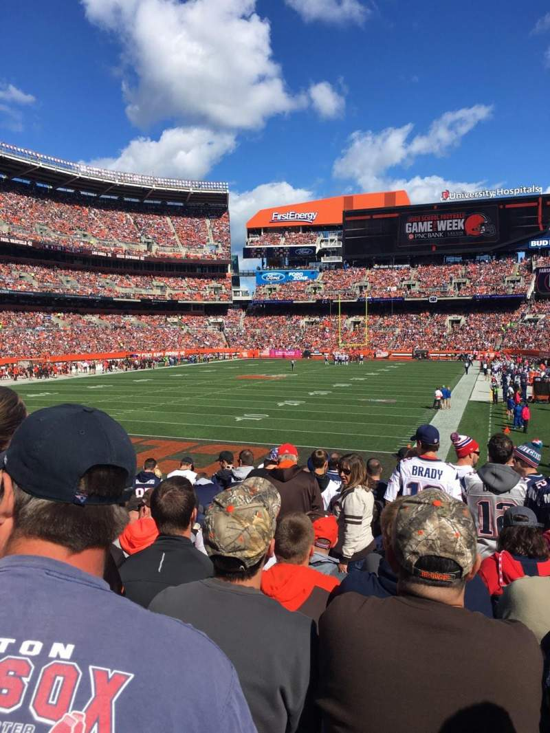 Seating view for FirstEnergy Stadium Section 149 Row 17 Seat 20