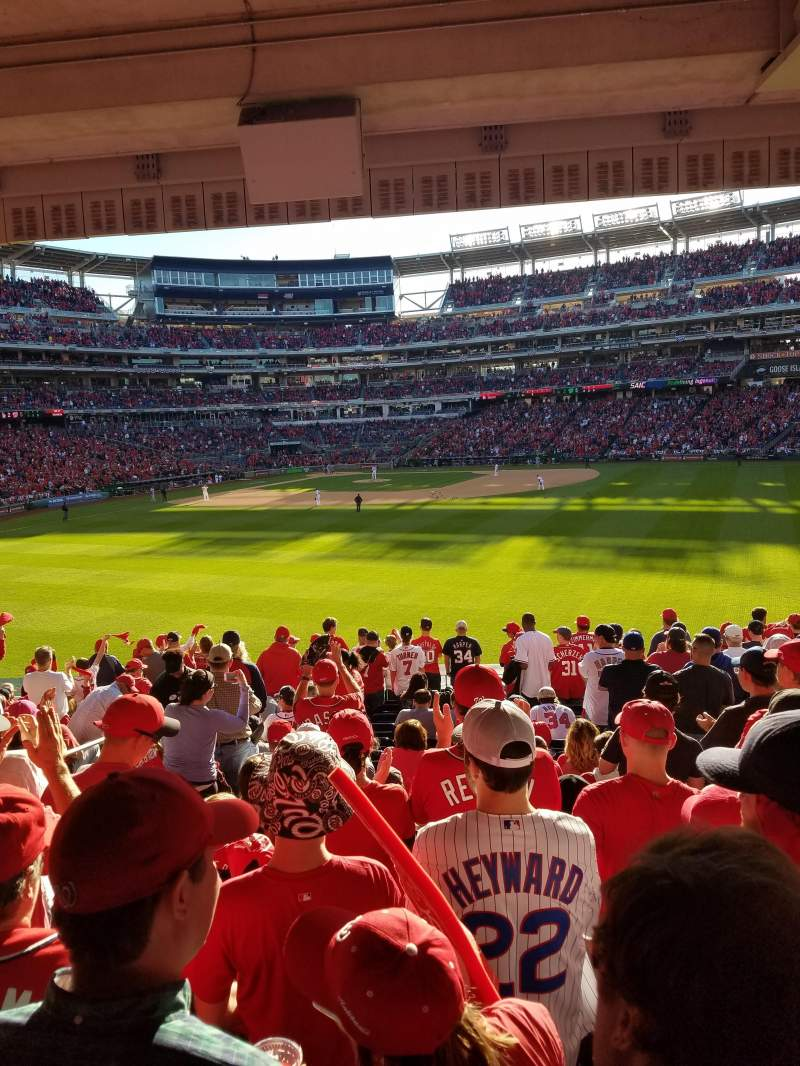 Seating view for Nationals Park Section 142 Row S Seat 23