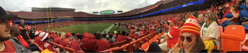 Seating view for Arrowhead Stadium Section 117 Row 6 Seat 14