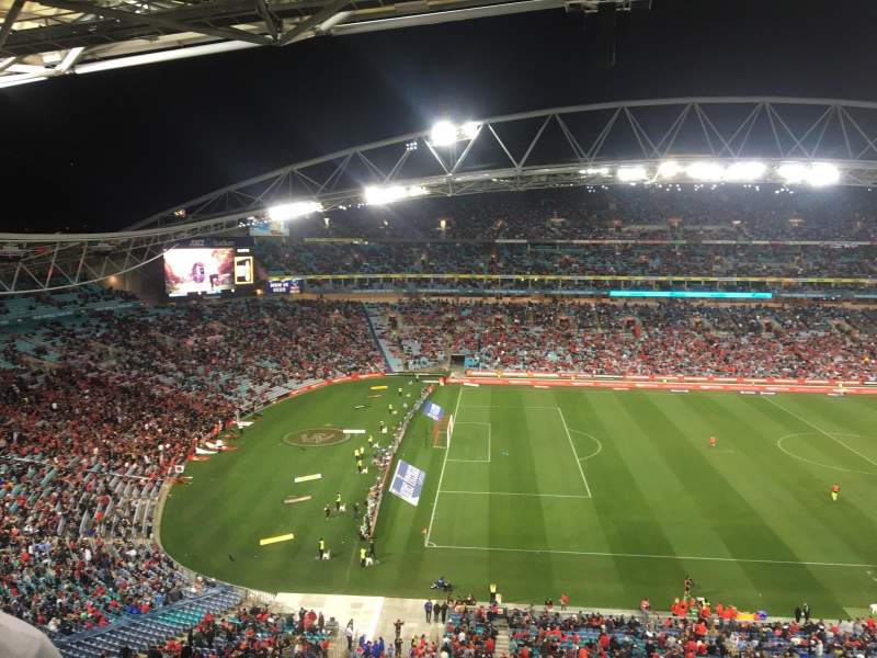 Seating view for ANZ Stadium