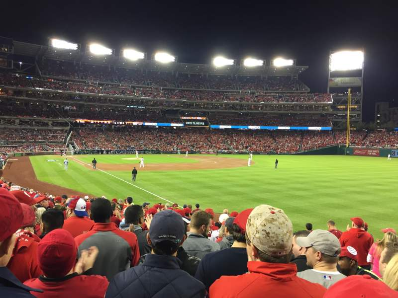Seating view for Nationals Park Section 136 Row Z Seat 4