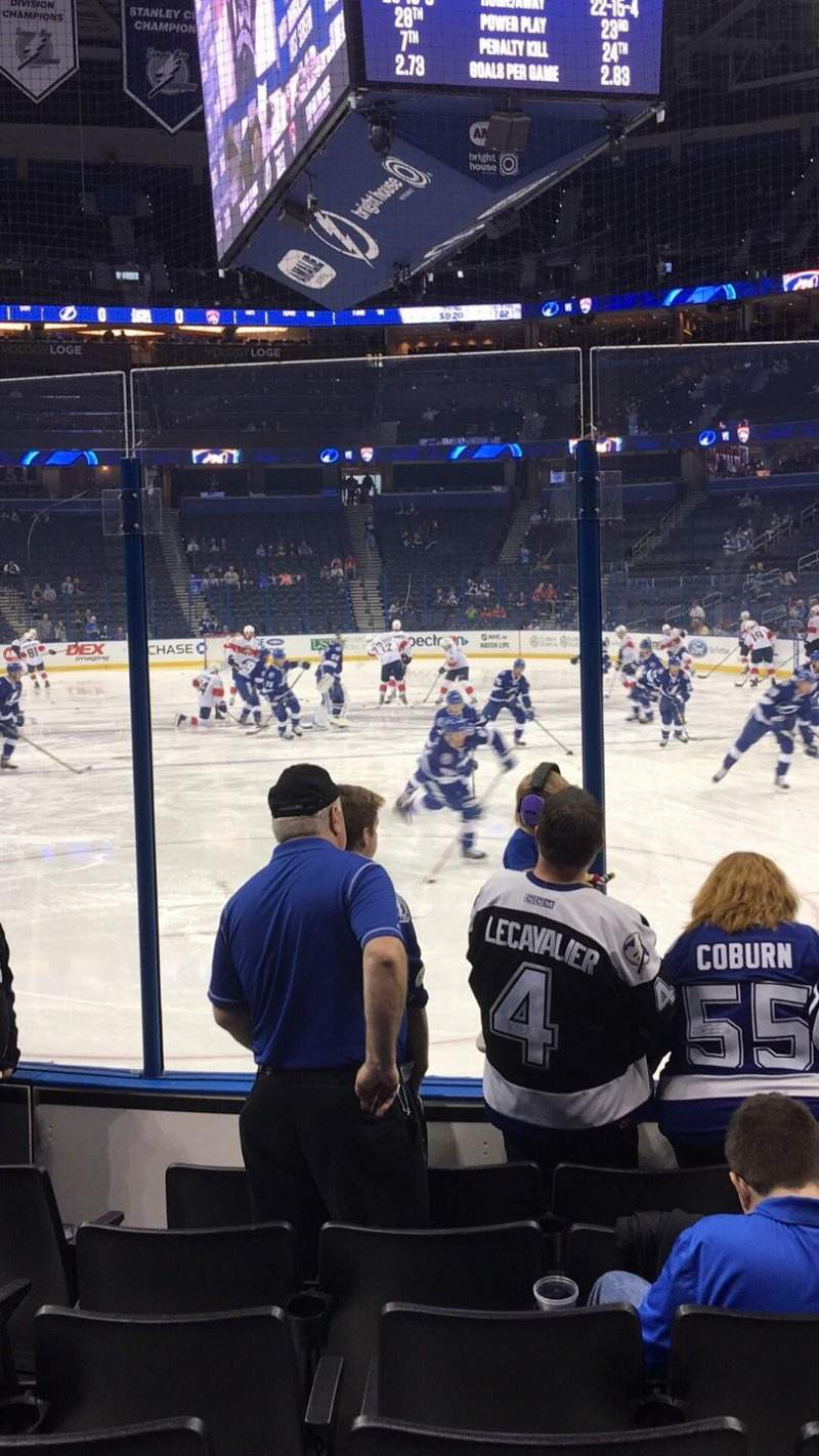 Seating view for Amalie Arena Section 126 Row G Seat 3