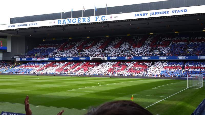 Seating view for Ibrox Park Section East Enclosure Row M Seat 27