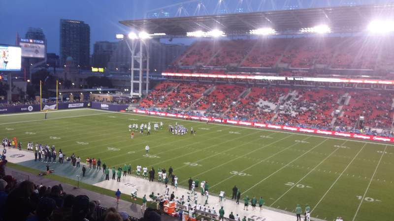 Seating view for BMO Field Section 221 Row 11 Seat 1
