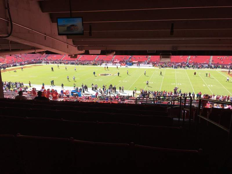 Seating view for FedEx Field Section 220 Row 20 Seat 1