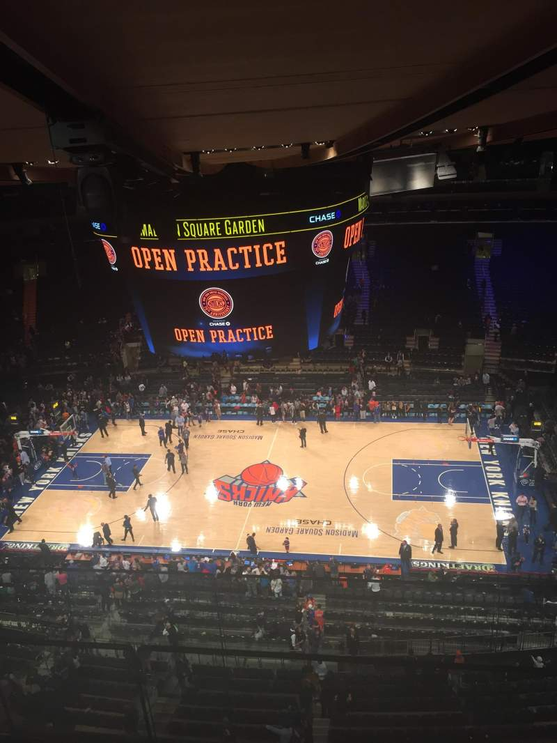 Seating view for Madison Square Garden Section 314 Row BS Seat 3