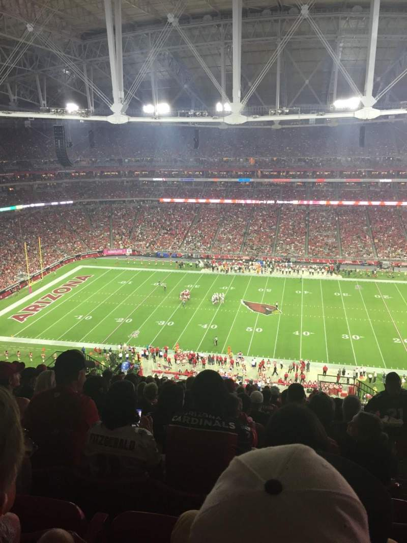 Seating view for University of Phoenix Stadium Section 412 Row 17 Seat 2