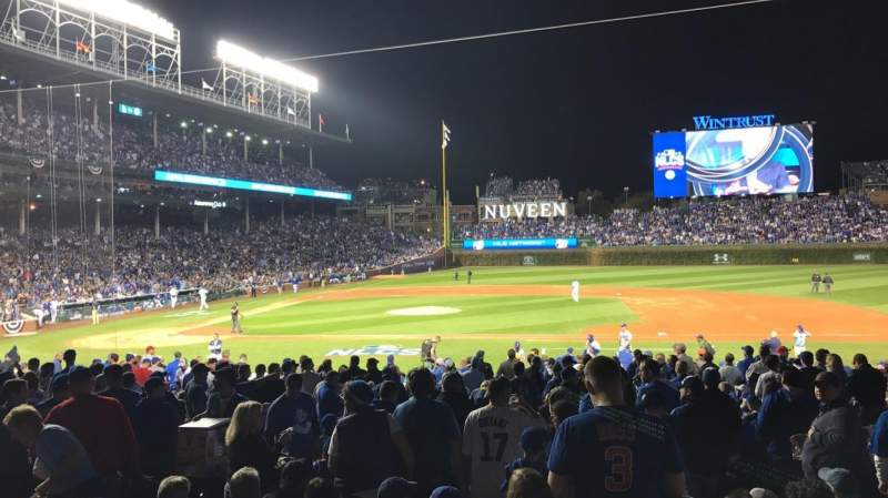 Seating view for Wrigley Field Section 124 Row 11 Seat 6