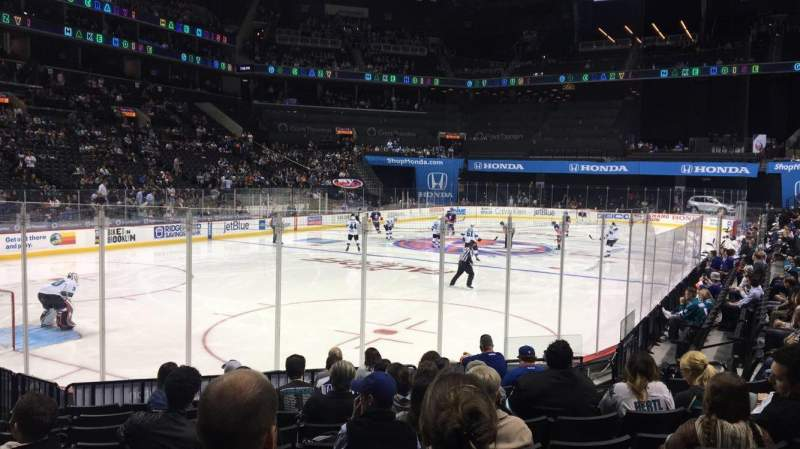 Seating view for Barclays Center Section 13 Row 10 Seat 7