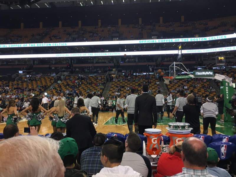 Seating view for TD Garden Section Loge 22 Row 2 Seat 9