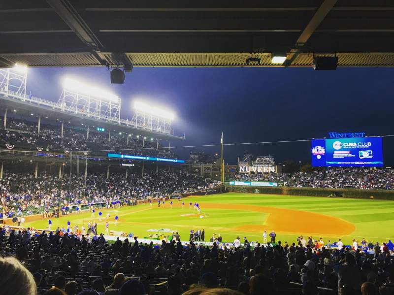Seating view for Wrigley Field Section 225 Row 10 Seat 8