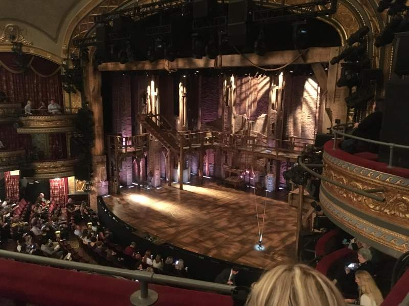 Seating view for Richard Rodgers Theatre Section Front Mezzanine R Row B Seat 28