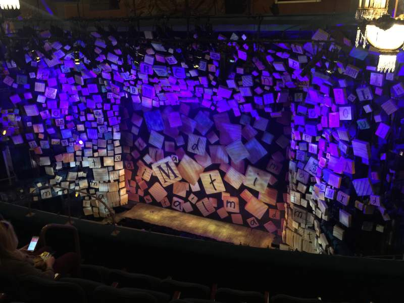Seating view for Shubert Theatre Section Balcony Row E Seat 12