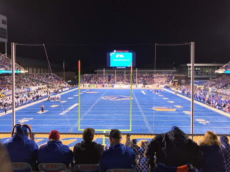 Seating view for Albertsons Stadium Section 133 Row B Seat 13