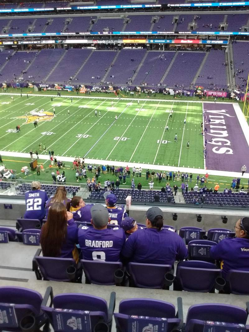 Seating view for U.S. Bank Stadium Section 230 Row 6 Seat 17