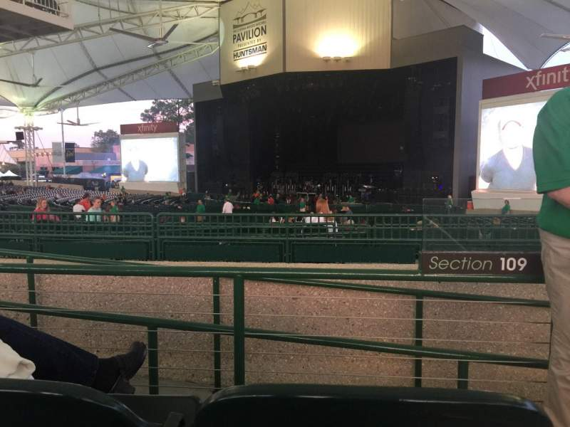 Seating view for Cynthia Woods Mitchell Pavilion Section 109 Row B Seat 32