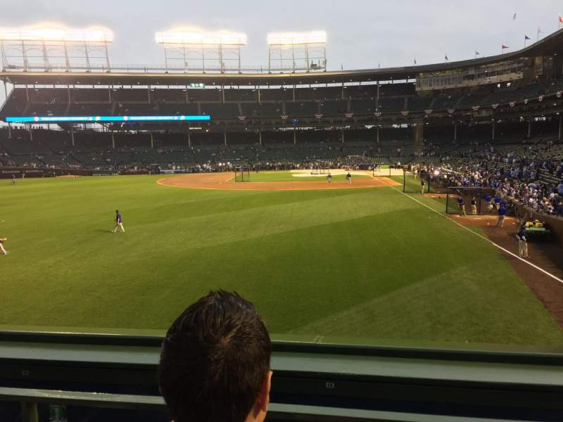 Seating view for Wrigley Field Section 302 Row 9 Seat 7