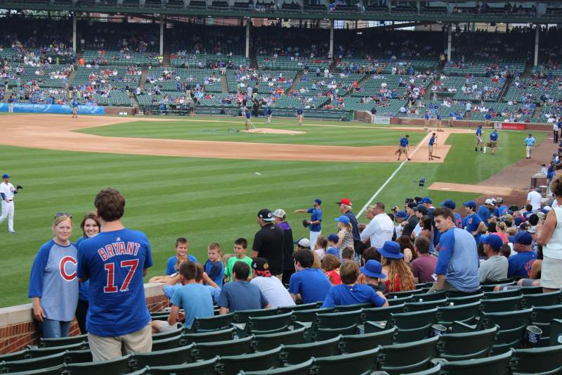 Seating view for Wrigley Field Section 203 Row 1 Seat 7
