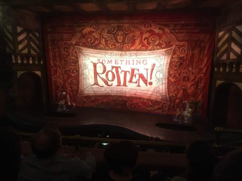 Seating view for St. James Theatre Section Mezzanine C Row C Seat 101