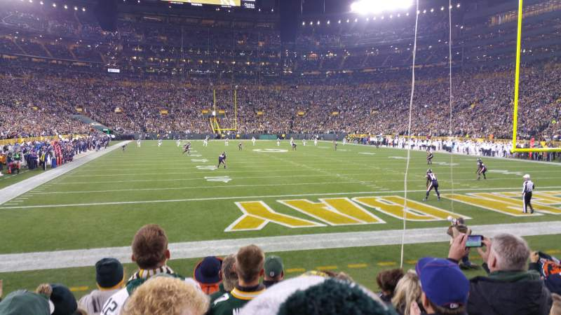 Seating view for Lambeau Field Section 103 Row 8 Seat 13
