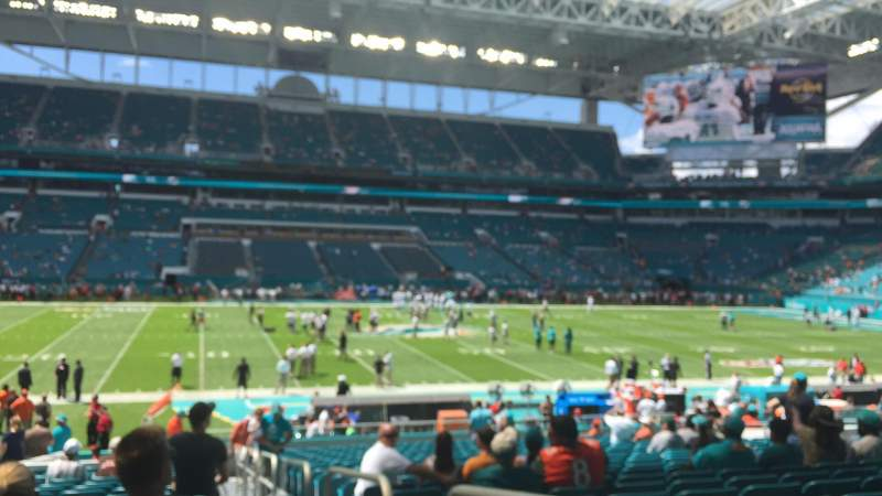 Seating view for Hard Rock Stadium Section 120 Row 26 Seat 1,2