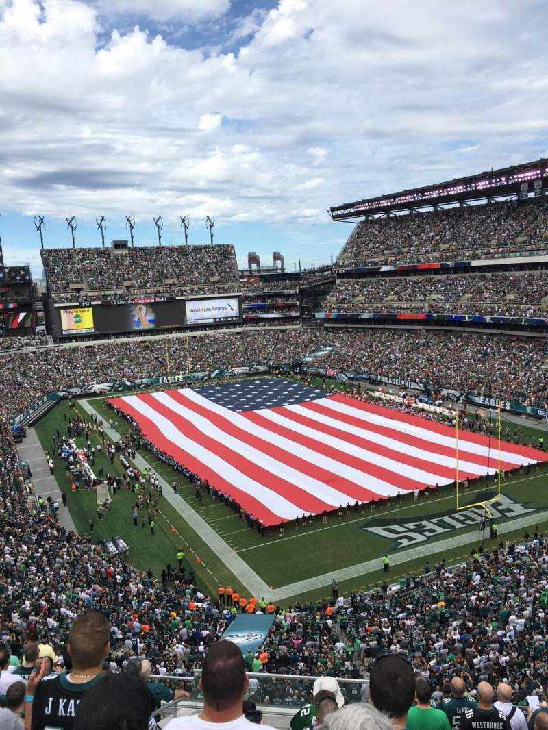 Seating view for Lincoln Financial Field Section Miller Lite Phlite Deck